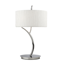 Steven & Chris SC207 - Two Light Chrome White Crinkled Linen Shade Table Lamp