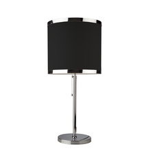 Steven & Chris SC439BK - Two Light Chrome Black Shade Table Lamp