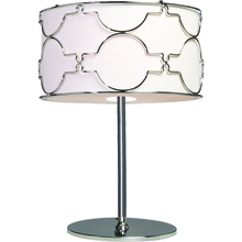 Steven & Chris SC648 - Two Light Chrome White Linen Shade Table Lamp