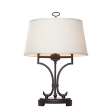 Steven & Chris SC958 - Two Light Oil Rubbed Bronze Oatmeal Hardback Shade Table Lamp
