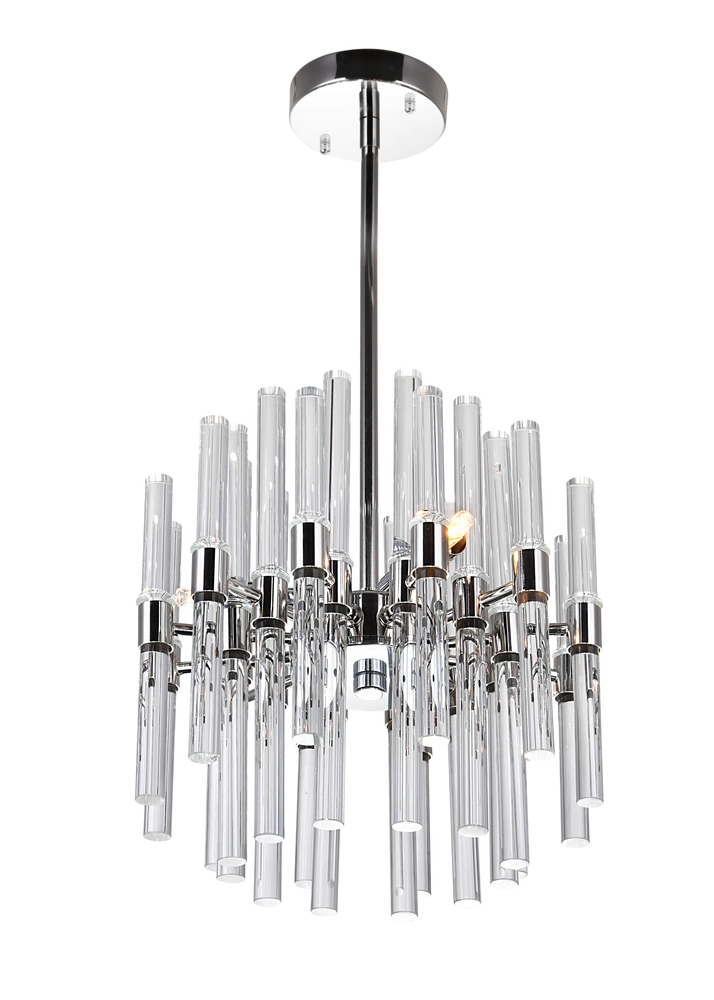 3 Light Mini Chandelier with Polished Nickel Finish