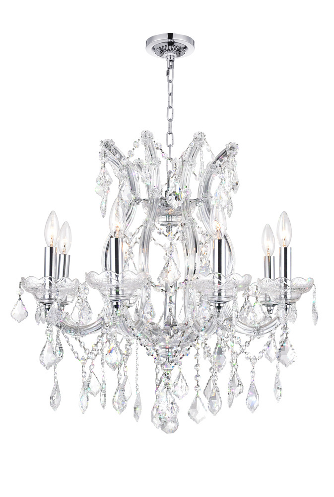 9 Light Up Chandelier with Chrome finish