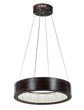 CWI Lighting 1040P16-251 - LED Chandelier with Wood Grain Brown Finish