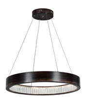 CWI Lighting 1040P26-251 - LED Chandelier with Wood Grain Brown Finish