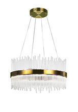 CWI Lighting 1063P24-605 - LED Chandelier with Antique Brass Finish