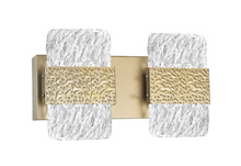 CWI Lighting 1090W14-2-620 - LED Wall Sconce with Gold Leaf Finish