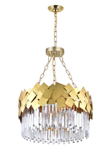 CWI Lighting 1100P24-6-169 - 6 Light Down Chandelier with Medallion Gold Finish