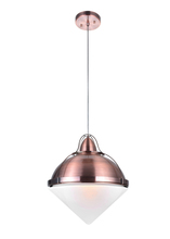 CWI Lighting 1124P14-1-622 - 1 Light Down Pendant with Copper Finish