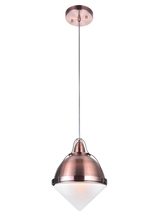 CWI Lighting 1124P9-1-622 - 1 Light Down Mini Pendant with Copper Finish