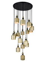 CWI Lighting 1144P24-16-270 - 16 Light Multi Light Pendant with Pearl Gold Finish