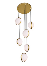 CWI Lighting 1153P24-6-169 - 6 Light Multi Light Pendant with Brass Finish