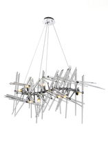 CWI Lighting 1154P39-10-601 - 10 Light Chandelier with Chrome Finish