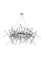 CWI Lighting 1154P42-10-601-R - 12 Light Chandelier with Chrome Finish