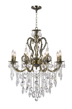 CWI Lighting 2015P30AB-8 - 8 Light Up Chandelier with Antique Brass finish