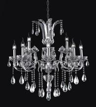 CWI Lighting 2024P28C-12 - 12 Light Up Chandelier with Chrome finish