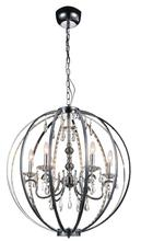 CWI Lighting 5025P28C-6 - 6 Light Up Chandelier with Chrome finish