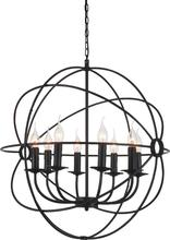 CWI Lighting 5464P24DB-8 - 8 Light Up Chandelier with Brown finish