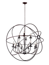 CWI Lighting 5464P40DB-12 - 12 Light Up Chandelier with Brown finish