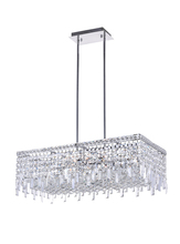 CWI Lighting 8031P30C-RC - 10 Light Down Chandelier with Chrome finish