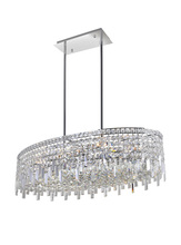CWI Lighting 8031P36C-O - 10 Light Down Chandelier with Chrome finish