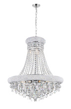 CWI Lighting 8040P24C - 13 Light Down Chandelier with Chrome finish