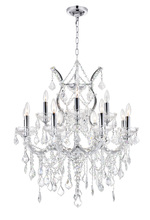 CWI Lighting 8311P30C-13 (Clear) - 13 Light Up Chandelier with Chrome finish