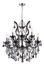 CWI Lighting 8311P30C-13 (Smoke) - 13 Light Up Chandelier with Chrome finish