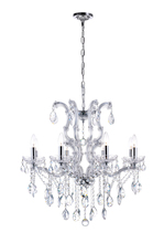 CWI Lighting 8312P28C-8 (Clear) - 8 Light Up Chandelier with Chrome finish