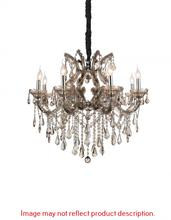 CWI Lighting 8319P32C-8 (Clear) - 8 Light Up Chandelier with Chrome finish