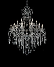 CWI Lighting 8398P44C-19 (Smoke) - 19 Light Up Chandelier with Chrome finish