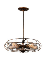 CWI Lighting 9606P18-5-128 - 5 Light Pendant with Antique Copper finish