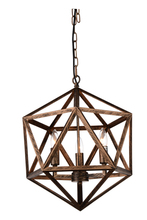 CWI Lighting 9641P17-3-128 - 3 Light Up Pendant with Antique forged copper finish