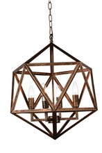 CWI Lighting 9641P20-4-128 - 4 Light Up Pendant with Antique forged copper finish