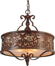 CWI Lighting 9807P21-5-116-A - 5 Light Drum Shade Chandelier with Brushed Chocolate finish
