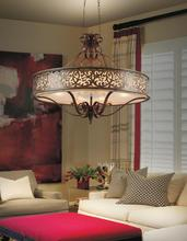CWI Lighting 9807P39-6-116 - 6 Light Drum Shade Chandelier with Brushed Chocolate finish