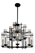 CWI Lighting 9827P38-12-101 - 12 Light Up Chandelier with Black finish