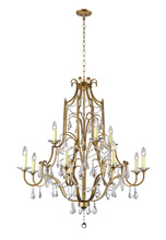 CWI Lighting 9836P37-12-125 - 12 Light Up Chandelier with Oxidized Bronze finish