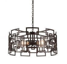 CWI Lighting 9913P25-4-205 - 4 Light Down Chandelier with Brown finish