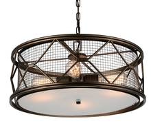 CWI Lighting 9914P22-4-204 - 4 Light Chandelier with Light Brown finish