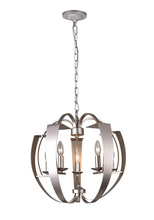 CWI Lighting 9950P21-5-221 - 5 Light Chandelier with Pewter finish