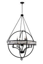 CWI Lighting 9957P42-12-101 - 12 Light Chandelier with Black finish