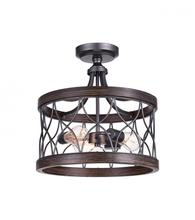 CWI Lighting 9966C16-3-242 - 3 Light Cage Semi-Flush Mount with Gun Metal finish