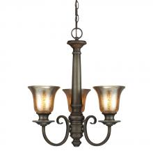 Sea Gull 3170403-736 - Blayne Three Light Chandelier in Platinum Oak with Mercury Glass