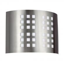 Sea Gull 49439L-962 - GRID Two Light Quad-Pin ADA Sconce in Brushed Nickel