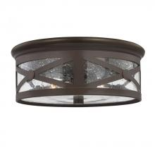 Sea Gull 7821402-71 - Two Light Outdoor Ceiling Flush Mount