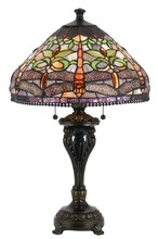 CAL Lighting BO-2355TB - 60W X 2 Tiffany Table Lamp