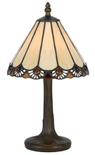 CAL Lighting BO-2382AC - 40W Tiffany Ac Lp W/ Zinc Cast Base