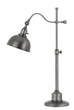 CAL Lighting BO-2588TB-AS - 60W Portico Metal Adjust Able Table Lamp With Metal Shade
