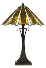 CAL Lighting BO-2645TB - 60W X 2 Tiffany Table Lamp