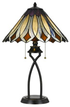 CAL Lighting BO-2648TB - 60W X 2 Tiffany Table Lamp